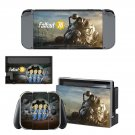 Fallout 76 decal skin sticker for Nintendo Switch console and controllers