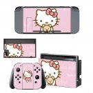 Hello Kitty decal skin sticker for Nintendo Switch console and controllers