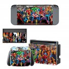 Super Heroes decal skin sticker for Nintendo Switch console and controllers