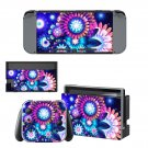 Floral design decal skin sticker for Nintendo Switch console and controllers