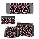 Floral Pattern decal skin sticker for Nintendo Switch console and controllers