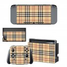 Tartan decal skin sticker for Nintendo Switch console and controllers