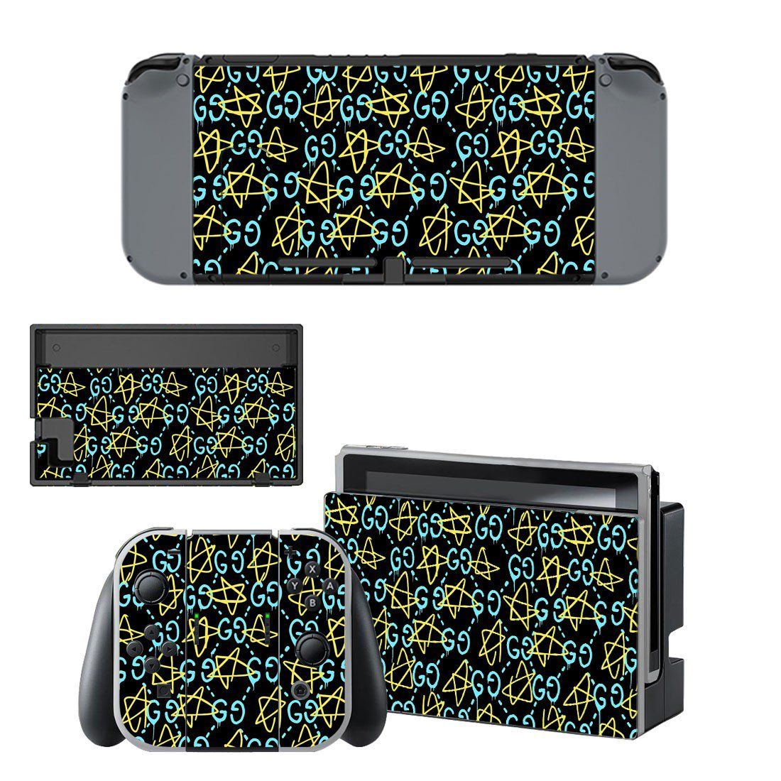 Pentagram decal skin sticker for Nintendo Switch console and controllers