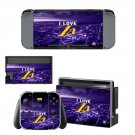 Los Angeles Lakers decal skin sticker for Nintendo Switch console and controllers