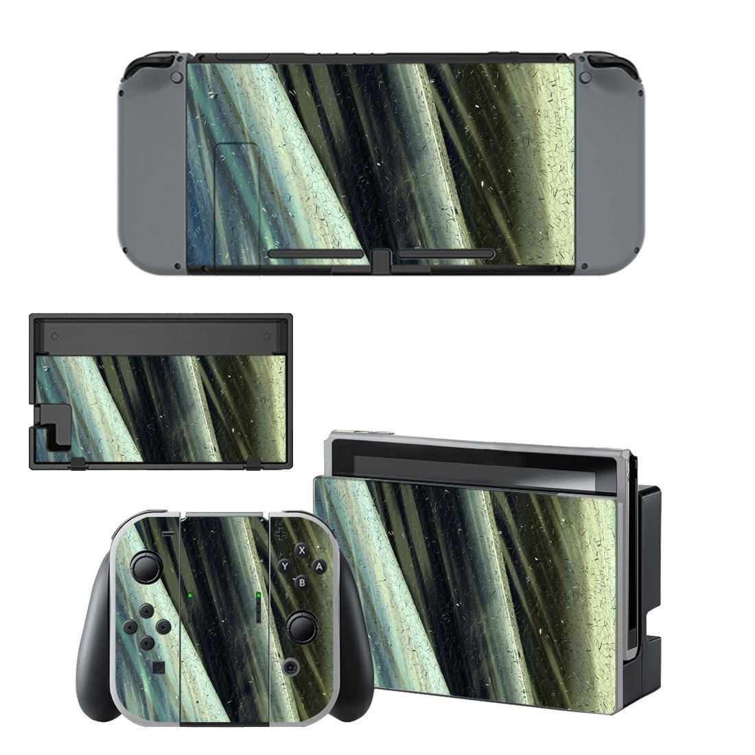 Tech wallpaper decal skin sticker for Nintendo Switch console and controllers