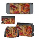 Wood spiral decal skin sticker for Nintendo Switch console and controllers