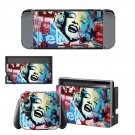 Marilyn Monroe decal skin sticker for Nintendo Switch console and controllers