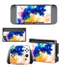 Colors flames decal skin sticker for Nintendo Switch console and controllers