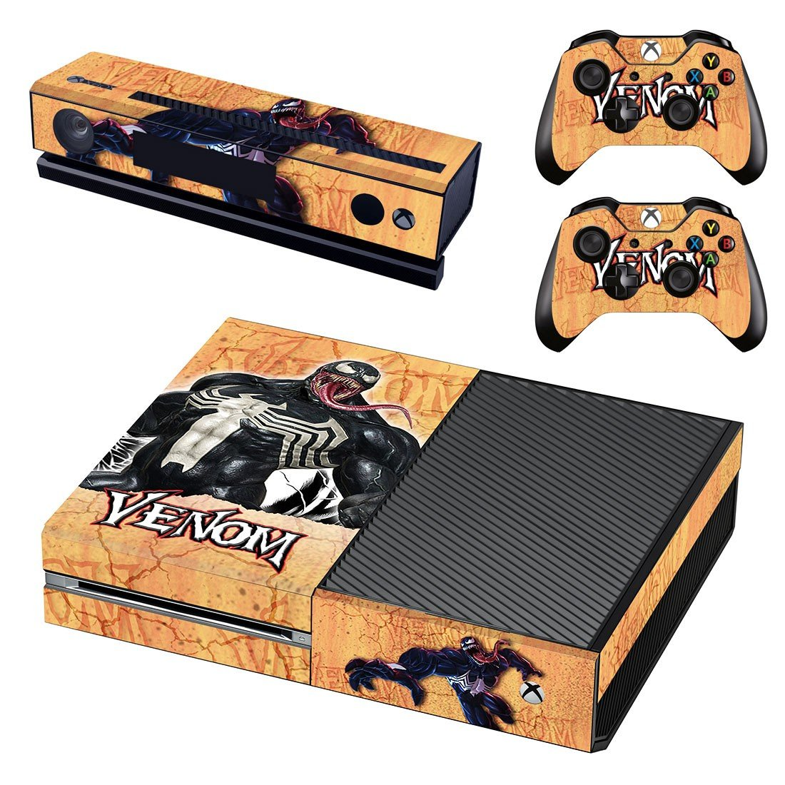 Venom decal skin sticker for Xbox One console and controllers