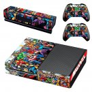 Super Heroes decal skin sticker for Xbox One console and controllers