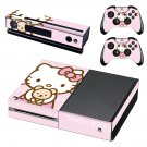 Hello Kitty decal skin sticker for Xbox One console and controllers
