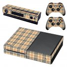 Tartan decal skin sticker for Xbox One console and controllers