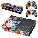 Floral girl decal skin sticker for Xbox One console and controllers