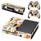 Cat Clipart decal skin sticker for Xbox One console and controllers