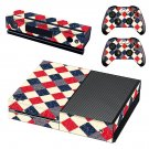 Colorful Squares decal skin sticker for Xbox One console and controllers