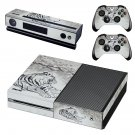Tiger Clipart decal skin sticker for Xbox One console and controllers