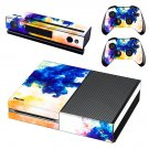 Colors flames decal skin sticker for Xbox One console and controllers