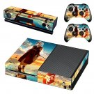 Anime water umbrella decal skin sticker for Xbox One console and controllers