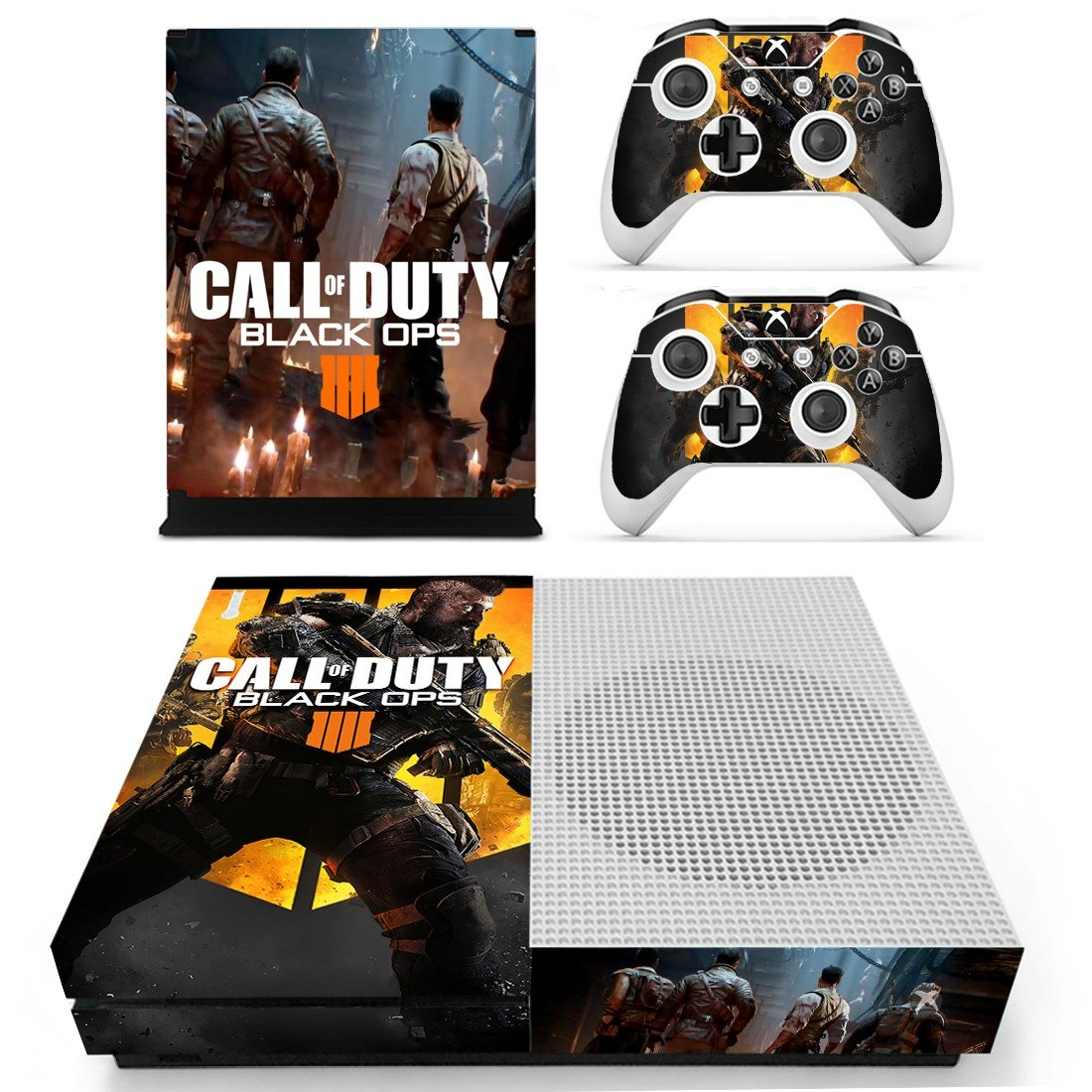 Call of Duty Black ops 4 decal skin sticker for Xbox One S console and controllers