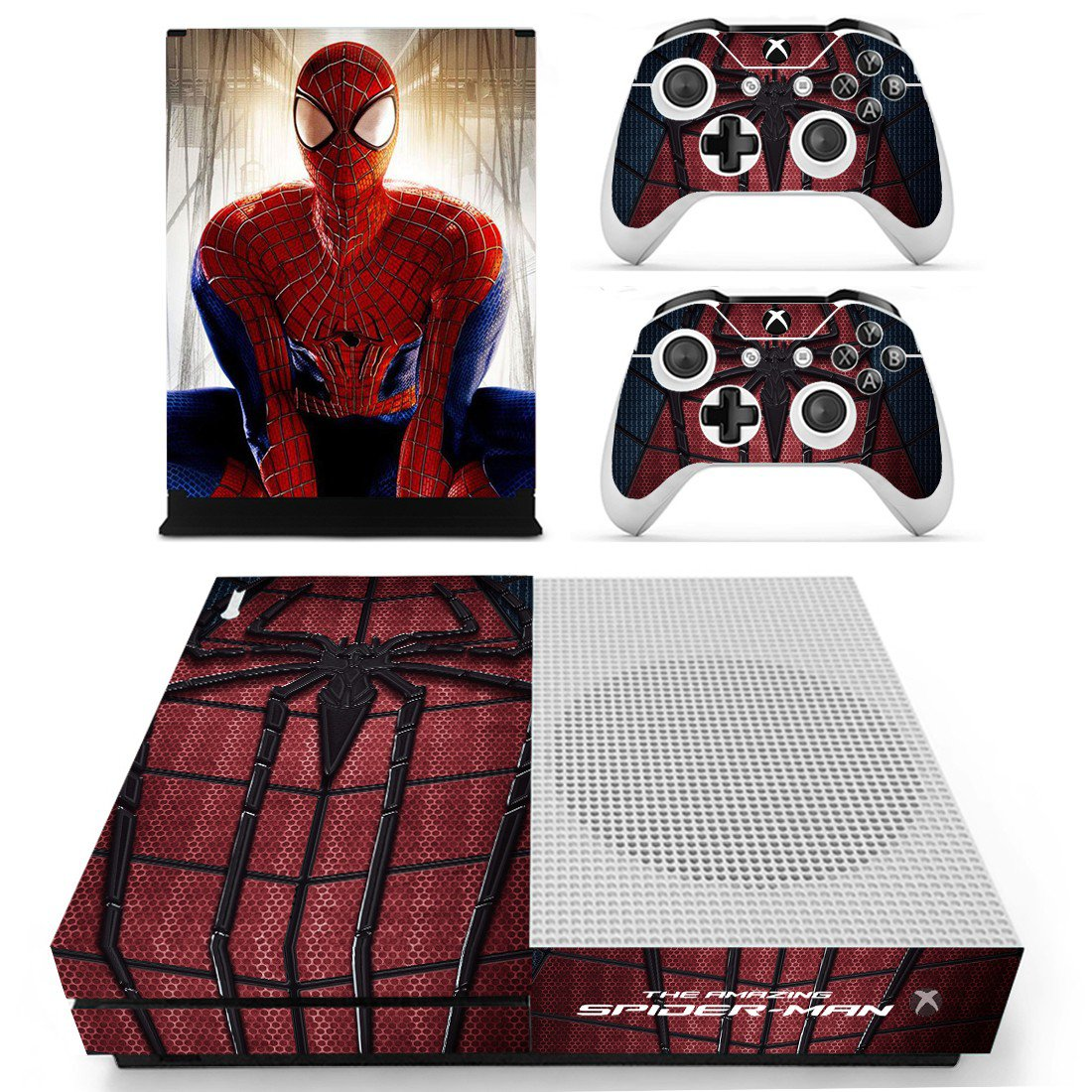 The amazing Spider Man decal skin sticker for Xbox One S console and controllers