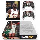 NBA 2K19 decal skin sticker for Xbox One S console and controllers