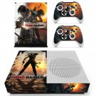 Shadow of the tomb raider decal skin sticker for Xbox One S console and controllers