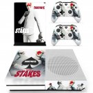 Fortnite high stakes decal skin sticker for Xbox One S console and controllers