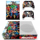 Super Heroes decal skin sticker for Xbox One S console and controllers