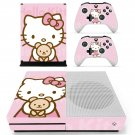 Hello Kitty decal skin sticker for Xbox One S console and controllers