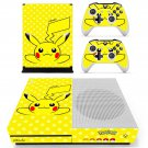 Pokemon go pikachu decal skin sticker for Xbox One S console and controllers