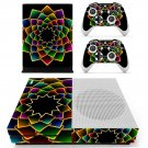 Floral Pattern decal skin sticker for Xbox One S console and controllers
