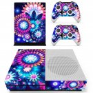 Floral design decal skin sticker for Xbox One S console and controllers