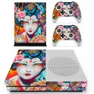 Floral girl decal skin sticker for Xbox One S console and controllers