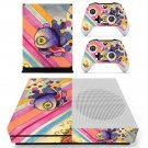 Trippy paintings decal skin sticker for Xbox One S console and controllers
