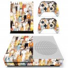 Cat face decal skin sticker for Xbox One S console and controllers