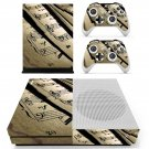 Music sheet decal skin sticker for Xbox One S console and controllers