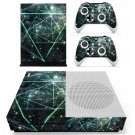 Green galaxy decal skin sticker for Xbox One S console and controllers