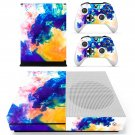Colors flames decal skin sticker for Xbox One S console and controllers