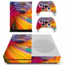Spiral pattern decal skin sticker for Xbox One S console and controllers
