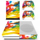 Colorful Wallpaper decal skin sticker for Xbox One S console and controllers