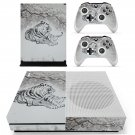 Tiger Clipart decal skin sticker for Xbox One S console and controllers