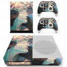 Lady Face decal skin sticker for Xbox One S console and controllers