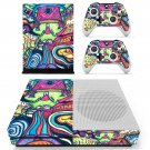 Hippie wallpaper decal skin sticker for Xbox One S console and controllers