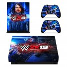 WWE 2K19 decal skin sticker for Xbox One X console and controllers
