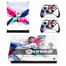FIFA 19 Ronaldo decal skin sticker for Xbox One X console and controllers