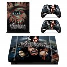 Venom decal skin sticker for Xbox One X console and controllers