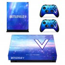 Battlefield 5 decal skin sticker for Xbox One X console and controllers