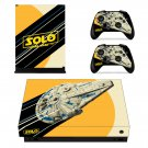 Solo A Star Wars Story decal skin sticker for Xbox One X console and controllers
