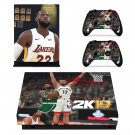 NBA 2K19 decal skin sticker for Xbox One X console and controllers