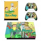 Rick and Morty decal skin sticker for Xbox One X console and controllers